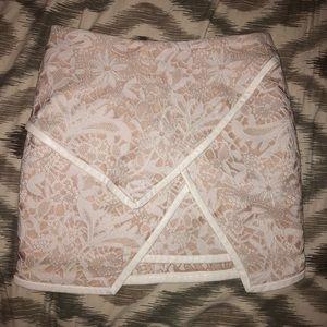 English Rose x Tobi lace overlay skirt layered